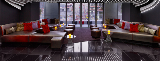 Living Room Bar And Terrace At The W New York Downtown What