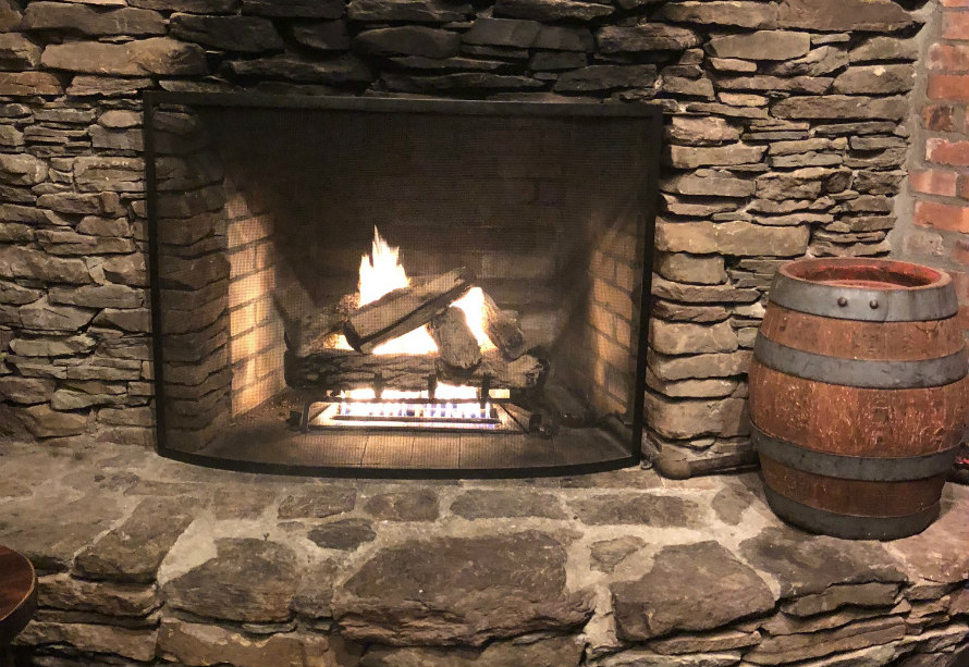 bars fireplaces nyc