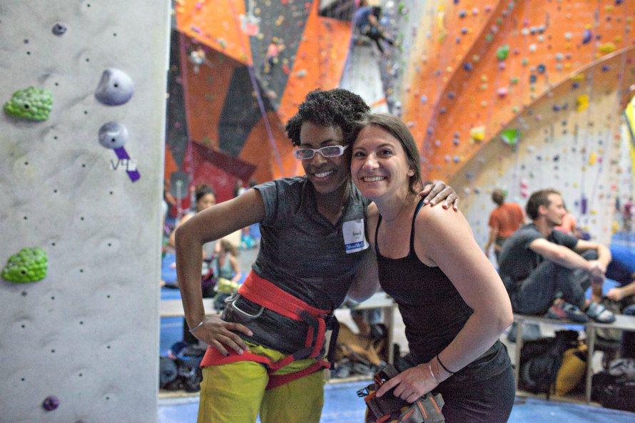 Rock Climbing NYC Lady+Crushers Clinic at the Cliffs
