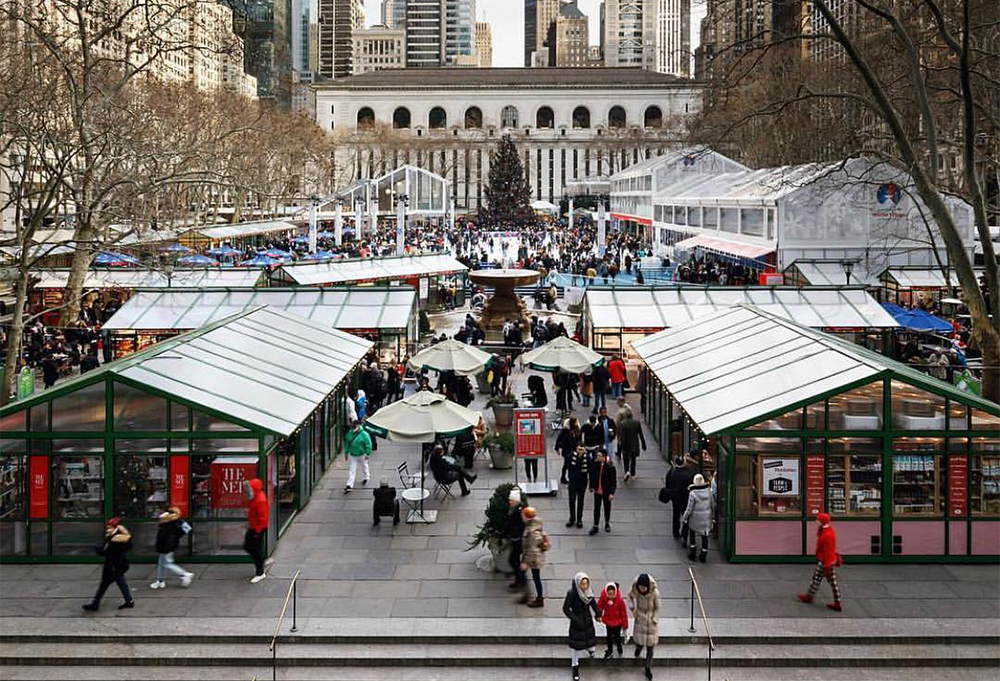 bryant park holiday markets nyc