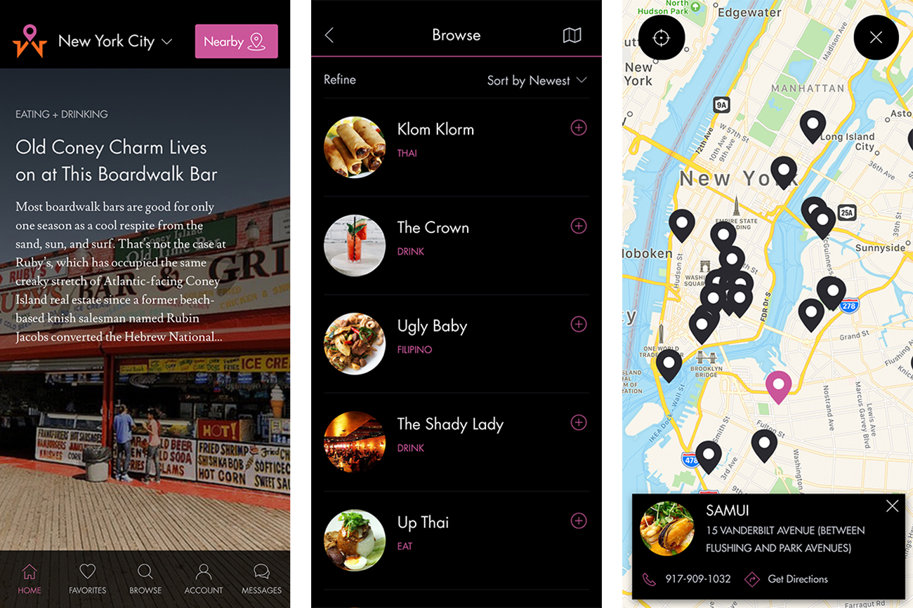 App Interface Tech Redesign New York