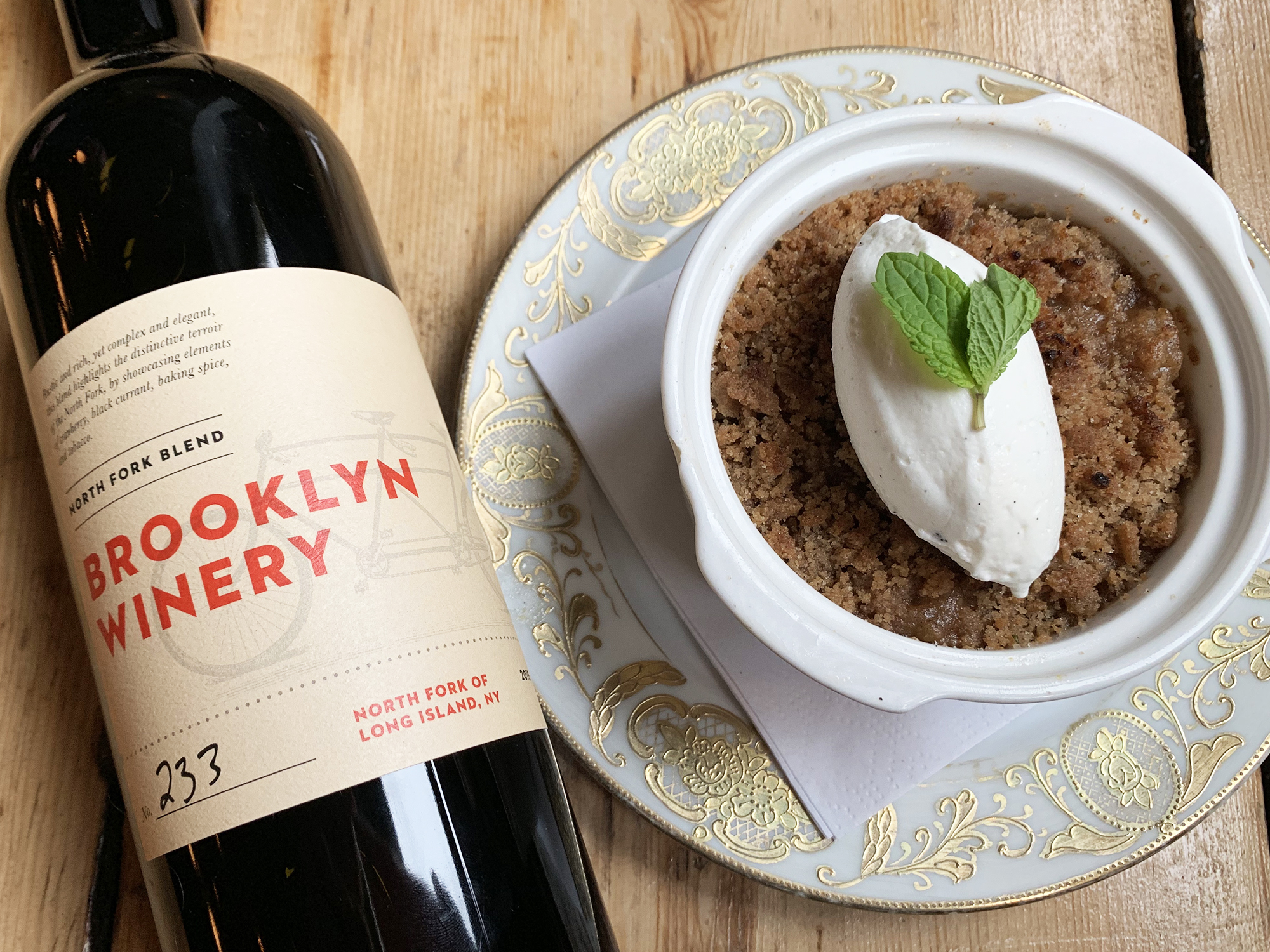 brooklyn winery apple crisp apple food