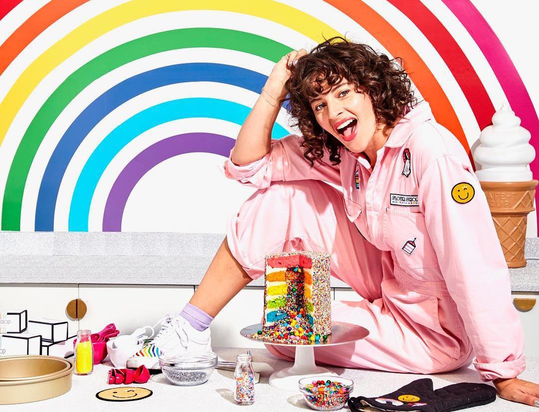 rainbow explosion cake